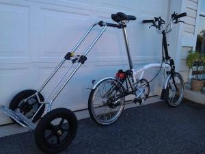 Homemade Bicycle Cargo Trailer