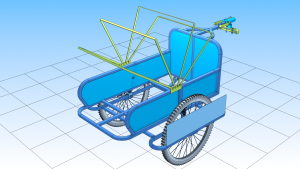 Convertible Bicycle Trailer for people.png